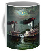 Race Of The Steamers Robert E Lee And Natchez Coffee Mug