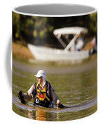 Racer Wading Across A River In An Coffee Mug