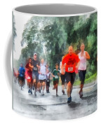 Racing In The Rain Coffee Mug by Susan Savad
