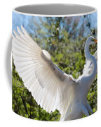 Radiant Great Egret Coffee Mug