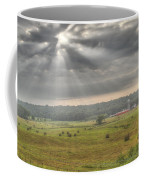 Radiant Light Over The Farm Coffee Mug