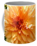 Radiating Orange Dahlia Coffee Mug