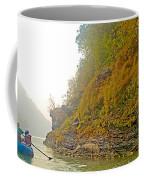 Rafting Near Shore In The Seti River-nepal   Coffee Mug