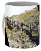 Rail Fence Black Coffee Mug by Barbara Snyder