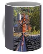 Rail Reflection At The Train Station Coffee Mug