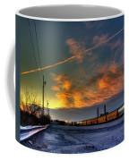 Railroad At Dawn Coffee Mug