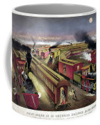 Railroad Junction, C1876 Coffee Mug
