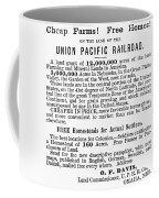 Railroad Land Sale, 1872 Coffee Mug