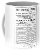 Railroad Land Sale, C1870 Coffee Mug