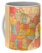 Railroad Map Of The United States 1852 Coffee Mug