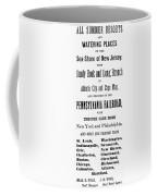 Railroad Resorts, 1884 Coffee Mug