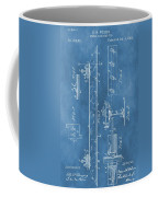 Railroad Tie Patent On Blue Coffee Mug