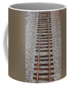 Railroad Track With Gravel Bed Coffee Mug