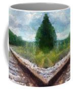 Railroad Tracks Photo Art Coffee Mug