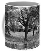 Rain And Leaf Ave In Black And White Coffee Mug