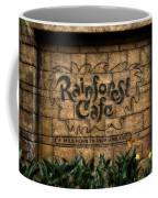 Rain Forest Cafe Signage Downtown Disneyland 01 Coffee Mug