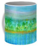 Rain  Original Contemporary Acrylic Painting On Canvas Coffee Mug