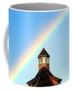 Rainbow Against Blue Sky Coffee Mug