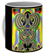 Rainbow Alien Owls Fractal 57 Coffee Mug