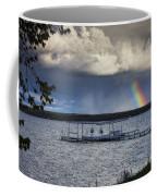 Rainbow At Burt Lake Coffee Mug