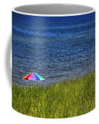Rainbow Beach Umbrella Coffee Mug