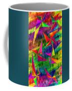 Rainbow Bliss - Pin Wheels - Painterly - Abstract - V Coffee Mug