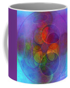 Rainbow Bubbles Coffee Mug by Klara Acel