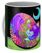 Rainbow Cat Blue Moon Coffee Mug