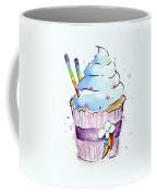 Rainbow-dash-themed Cupcake Coffee Mug by Olga Shvartsur