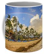 Rainbow Over The Beach Coffee Mug