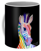 Rainbow Striped Zebra 2 Coffee Mug
