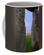 Rainbow Through Stonehenge Sarsens Coffee Mug