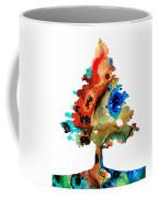 Rainbow Tree 2 - Colorful Abstract Tree Landscape Art Coffee Mug