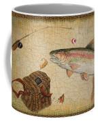 Rainbow Trout-basket Weave Coffee Mug