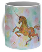 Rainbow Unicorn In My Garden Original Watercolor Painting Coffee Mug