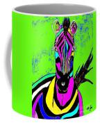 Rainbow Zebra 2 Abstract Coffee Mug