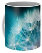 Raindrops On Dandelion Sea Blue Coffee Mug