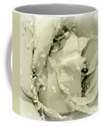 Raindrops On White Rose Coffee Mug