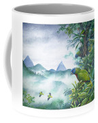 Rainforest Realm - St. Lucia Parrots Coffee Mug