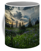 Rainier Abundance Of Flowers Coffee Mug