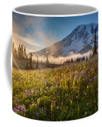 Rainier Golden Sunlit Meadows Coffee Mug