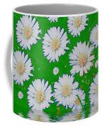 Raining White Flower Power Coffee Mug