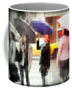 Rainy Day In The City - Blue Pink And Polka Dots Coffee Mug