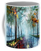 Rainy Day - Palette Knife Oil Painting On Canvas By Leonid Afremov Coffee Mug