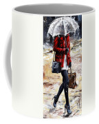 Rainy Day - Woman Of New York 09 Coffee Mug by Emerico Imre Toth