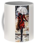 Rainy Day - Woman Of New York 10 Coffee Mug by Emerico Imre Toth
