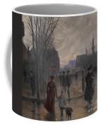Rainy Evening On Hennepin Avenue Coffee Mug by Robert Koehler