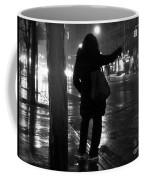 Rainy Night - Hailing A Cab Coffee Mug