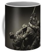 Raising The Flag On Iwo Coffee Mug