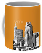 Raleigh Skyline - Dark Orange Coffee Mug